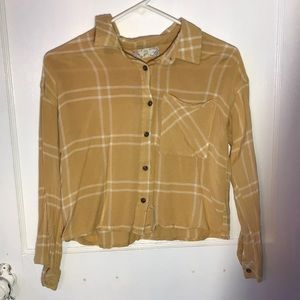 Cropped yellow flannel